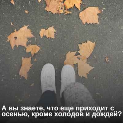 А вы знаете, что еще приходит с осенью, кроме холодов и дождей?
